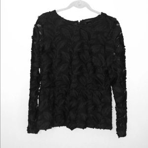 Sz 10 Ann Taylor Factory Holiday Peplum Lace Top